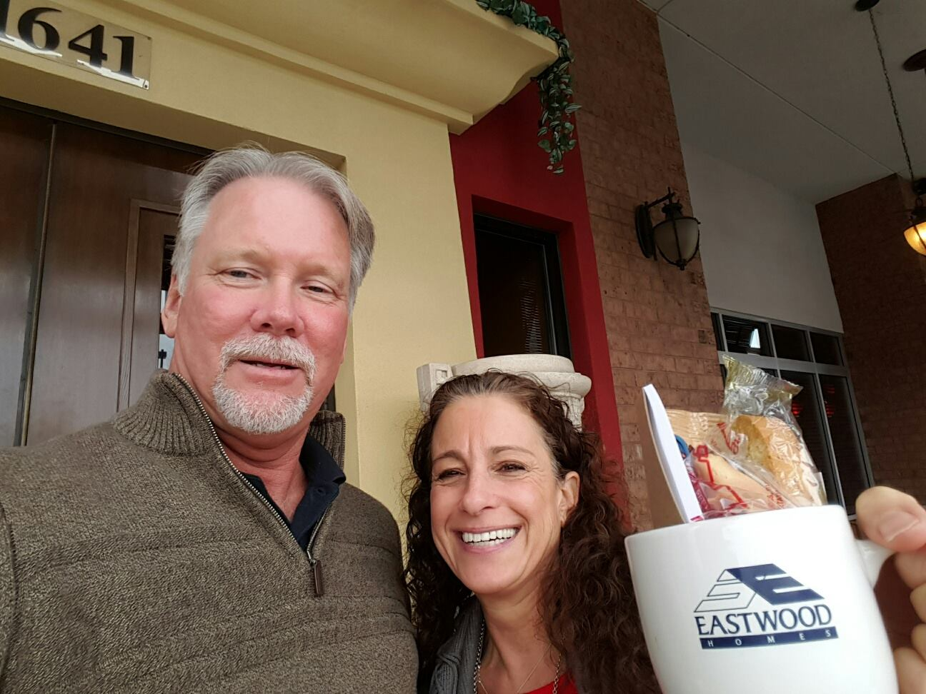 """Valerie Schaffer from Total Care Realty got """"mugged"""" by New Home Specialist, David Hardison"""